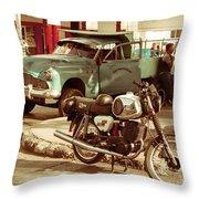 Pickup Bike  Throw Pillow