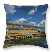 Pickwick Landing Dam Pickwick, Tennessee Throw Pillow