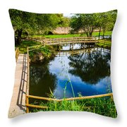 Picnic Area In The Marnel River I Throw Pillow