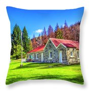 Picnic At Skippers School Throw Pillow