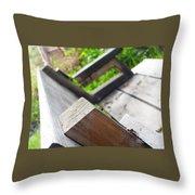 Picnic Bench Throw Pillow