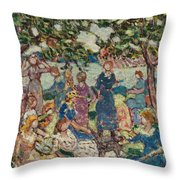 Picnic By The Inlet Throw Pillow
