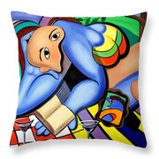 Picnic For One Throw Pillow by Anthony Falbo