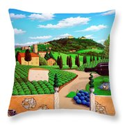 Picnic In Tuscany Throw Pillow