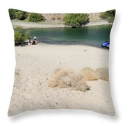 Picnic On Lake Mohave Throw Pillow