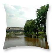 Picnic On The Bavarian Lawn Throw Pillow