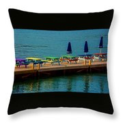 Picnic On The Water Throw Pillow
