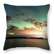 Picnic Point Aurora 180 Degree Pano, May 28, 2017 Throw Pillow