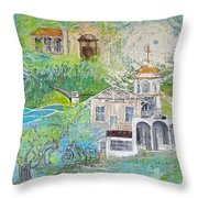 Picture City Throw Pillow