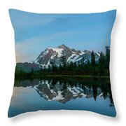 Picture Lake At Night Throw Pillow