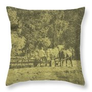 Picture Of Amish Boy In Book Throw Pillow