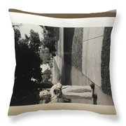 Picture Of Boy With Camera Throw Pillow