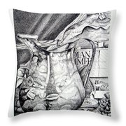 Picture Of Pitcher Throw Pillow