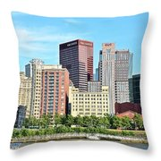 Picture Perfect Pittsburgh Panoramic Throw Pillow