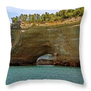 Pictured Rocks Arch Throw Pillow