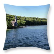 Pictured Rocks Lighthouse Throw Pillow