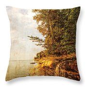 Pictured Rocks Water Throw Pillow