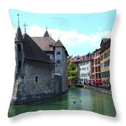 Picturesque Annecy, France Throw Pillow