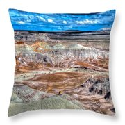 Picturesque Blue Mesa Throw Pillow
