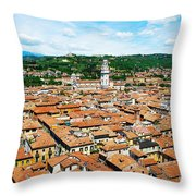 Picturesque Cityscape Of Verona Italy Throw Pillow