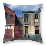 Picturesque Derelict Houses In Hull England Throw Pillow