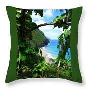 Picturesque Hawaii  Throw Pillow