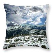 Picturesque Mountain Landscape Throw Pillow