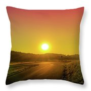 Picturesque Sunset Throw Pillow
