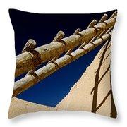 Picuris Pueblo Ladder. Throw Pillow