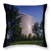 Corporate Woods Pie Building Throw Pillow