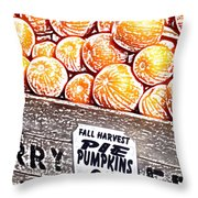 Pie Pumpkins For Sale Throw Pillow