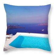 Piece Of Mediterranean Paradise Throw Pillow