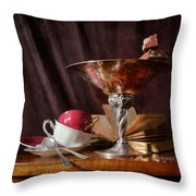 Piece Of Wafer In Chocolate Throw Pillow