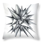 Piece Of World Turned Into Spiked Ball Throw Pillow