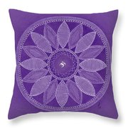 Pieces In Purple Throw Pillow