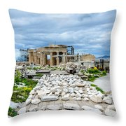Acropolis - Pieces Of The Puzzle Throw Pillow