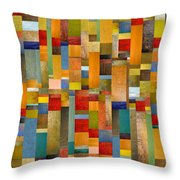 Pieces Parts Throw Pillow by Michelle Calkins