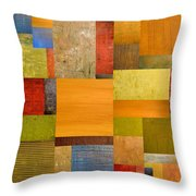 Pieces Project Ll Throw Pillow by Michelle Calkins