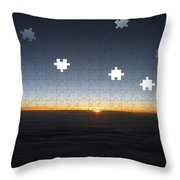 Piecing  Together A New Day Throw Pillow