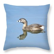 Pied-billed Grebe 2 Throw Pillow