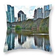 Piedmont Park Atlanta Reflection Throw Pillow