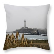 Piegeon Point Lighthouse Throw Pillow