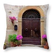 Pienza Doorway Throw Pillow