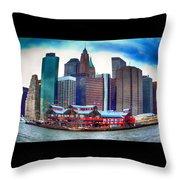 Pier 17 Ny Ny Throw Pillow