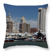 Pier 17 Nyc Throw Pillow by Ken Barrett