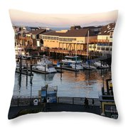 Pier 39 In The Sunshine Throw Pillow