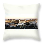 Pier 39 Panorama Throw Pillow