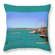 Pier 56 Action Throw Pillow
