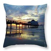 Pier 60 Sunset Throw Pillow