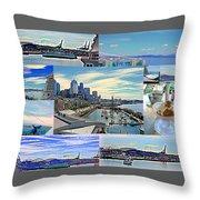 Pier 66 Collage Throw Pillow